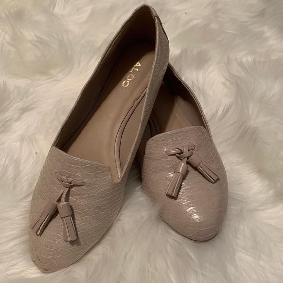c6eb5596373 ALDO Nude Tassel Loafers